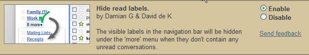 Enable Hide Read Labels